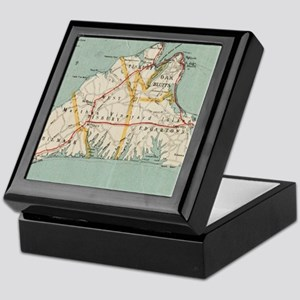 Vintage Map of Martha's Vineyard (191 Keepsake Box